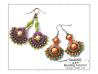 Fan Shaped Earrings Beading Tutorial by Heather Collin