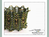 Beading Pattern, RAW Open Work Cuff Tutorial