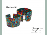 2 drop Flat Peyote Stitch Cuff Beading Pattern Tutorial