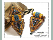 Peyote Stitch Beading Pattern Triangle Shaped Detachable Clasp Tutorial