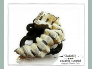Peyote Stitch Cuff for accomplished Beginner Beading Pattern and Tutorial